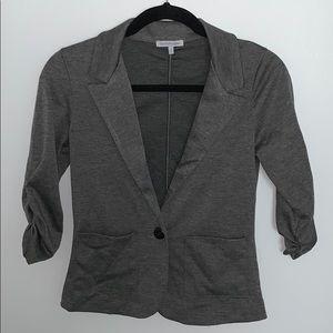 Stretchy gray blazer